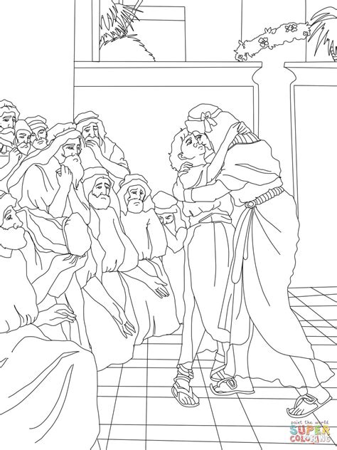 coloring pages joseph and his brothers joseph forgives his brothers coloring page free