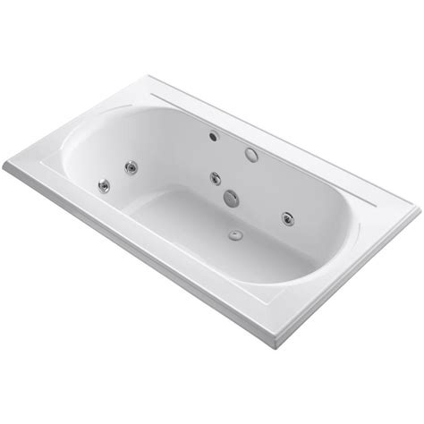 kohler drop in bathtubs kohler memoirs 6 ft acrylic rectangular drop in whirlpool