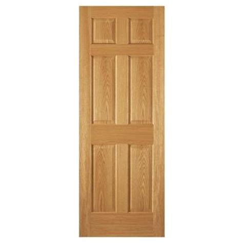 30 X 80 Interior Door Opening by Steves Sons 30 In X 80 In 6 Panel Unfinished Oak
