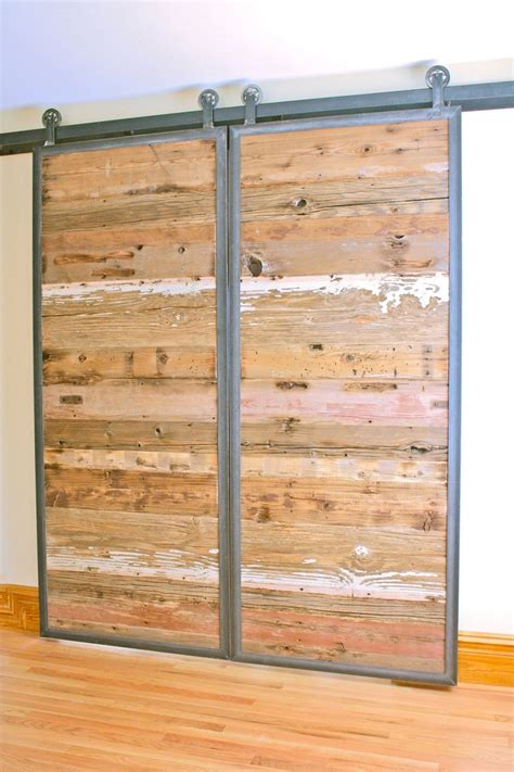 Barn Doors In Reclaimed Wood Tracks Included Reclaimed Wood Barn Doors