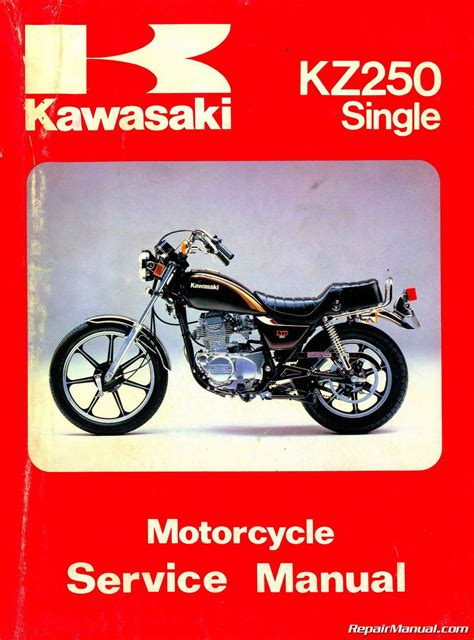 motocross bike repairs 1980 1983 kawasaki kz250 motorcycle repair service manual
