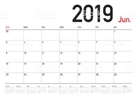 june  desk calendar vector illustration stock vector