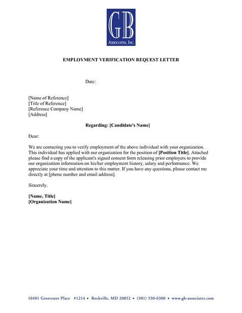 9 Verification Of Employment Letter Exles Pdf Employment Verification Template