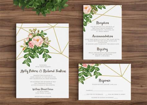 vintage rustic diy wedding invitation template wedding invitation template rustic bohemian floral