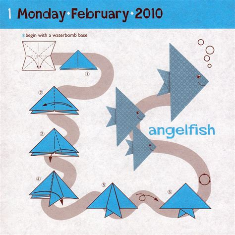 How To Make An Origami Angelfish - origami fish crafts