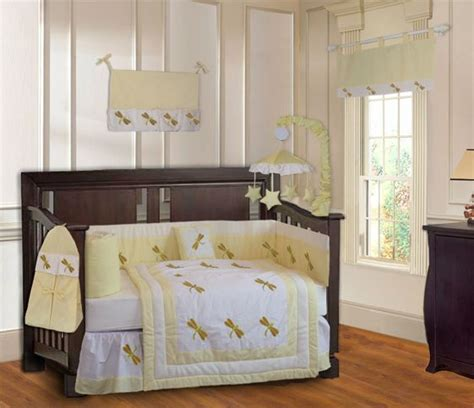 Dragonfly Crib Bedding New Yellow Dragonfly Baby Crib Bedding 9 Pc Set