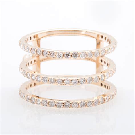 three tier yellow gold white 3 tier ring christine k jewelry