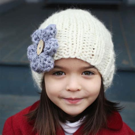 slouchy beanie knitting pattern for beginners slouchy hat with flower by julie craftsy