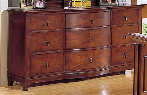 Tripple Dresser by Homelegance Avalon 9 Drawer Dresser With Bow Front