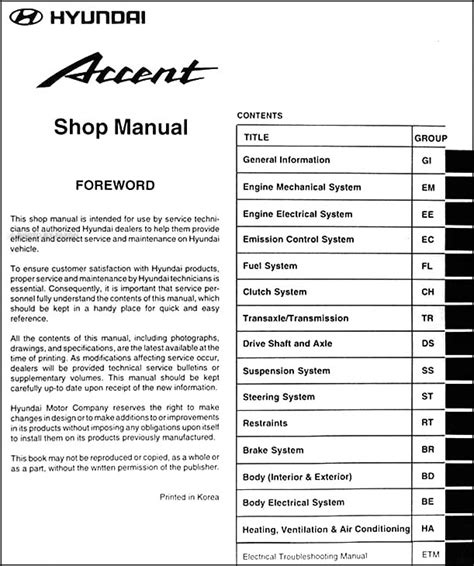 free online car repair manuals download 1997 hyundai elantra lane departure warning service manual 2000 hyundai accent manual free hyundai accent 2000 2005 service repair