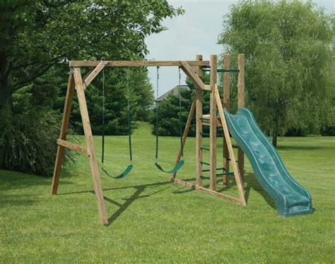 make a swing set mr shed wood swing sets