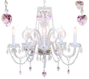 Kid Chandeliers Chandelier With Crystal Pink Hearts Traditional Kids