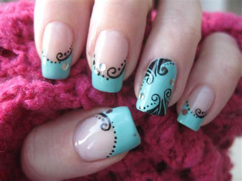 nails deco nail nostalgic decorations on turquoise