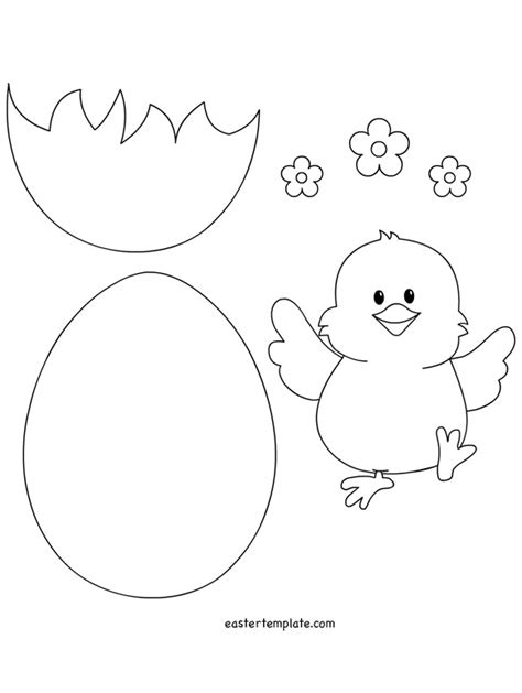 easter chick and egg template kalıplar pinterest