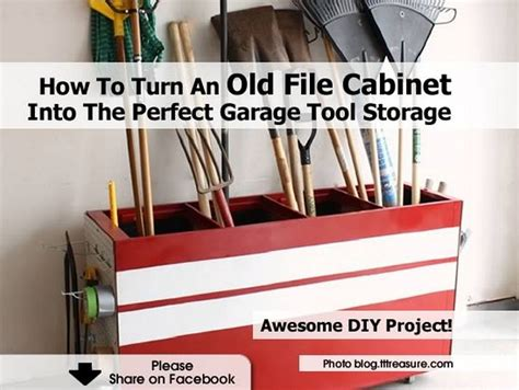 How To Turn An Old File Cabinet Into The Perfect Garage