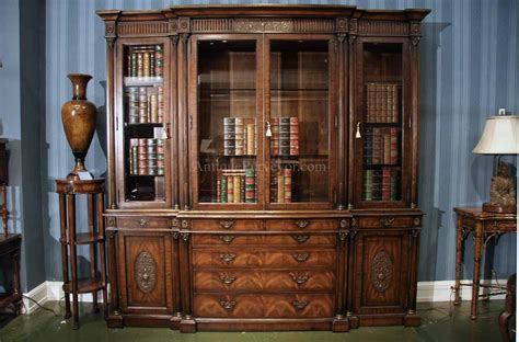 China Cabinet by Antique Mahogany China Cabinet And Bookcase