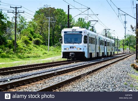 when the road with a light rail vehicle you maryland transit administration stock photos maryland