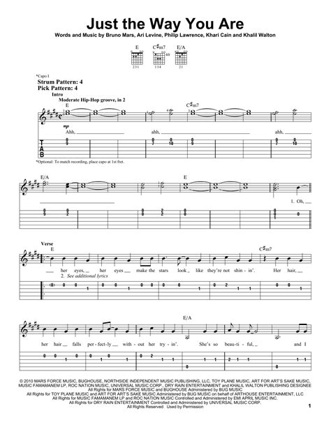 tutorial keyboard just the way you are just the way you are by bruno mars easy guitar tab