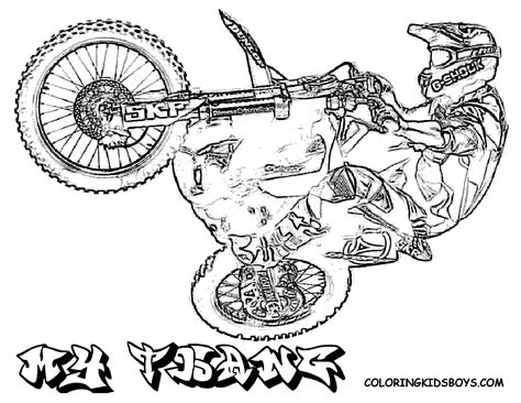 fierce rider dirt bike coloring dirtbikes free