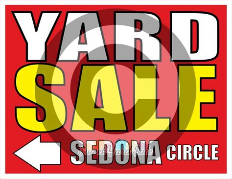 Buy Garage Sale Signs by Set Of 10 Or 16 Customized Yard Sale Signs Letter Size