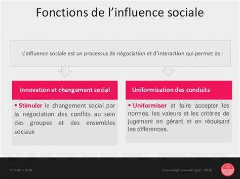 modification si鑒e social l influence sociale modification du comportement humain