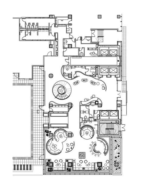 hotel lobby design layout 21 best cafe floor plan images on pinterest restaurant