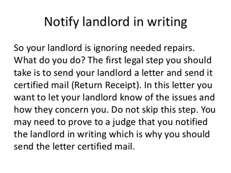 Withhold Rent From Landlord Letter Sle Letters To Request A Rent Reduction From Your Landlord Landlord Tenant Notices Rental