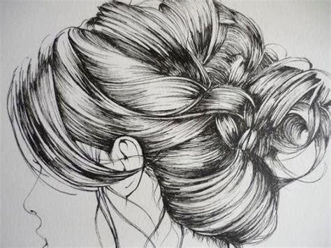 doodle hair bun draw hair image 534398 on favim