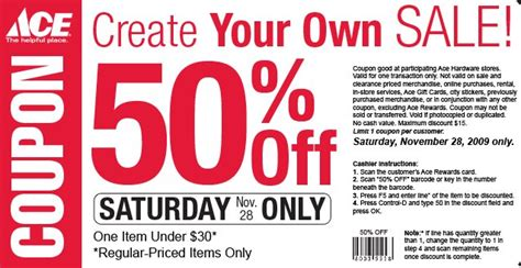 ace hardware discount ace hardware 50 off on item southern savers