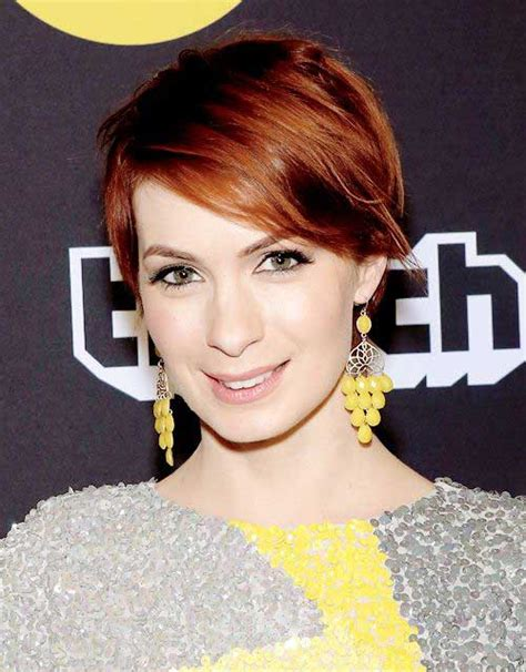 felicia day short hair 10 chic and showy red pixie hairstyles crazyforus