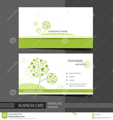 calling cards template modern business card template stock vector