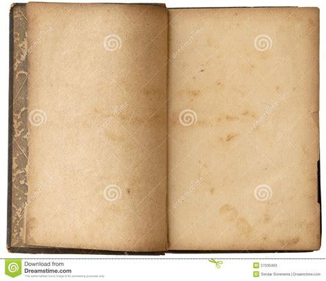libro espacios en blanco libro abierto del viejo espacio en blanco fotos de archivo imagen 27030463