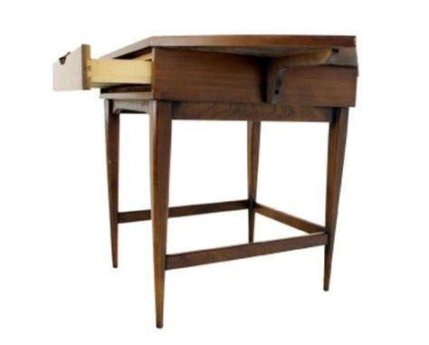Mid Century Modern Corner Desk by Mid Century Modern Walnut Corner Desk Table Ebay