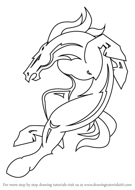 nfl coloring pages broncos learn how to draw denver broncos mascot nfl step by step