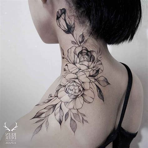 neck shoulder tattoo designs shoulder neck designs best design