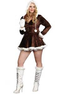 full figured halloween costumes full figure hooded furry mini dress halloween costume