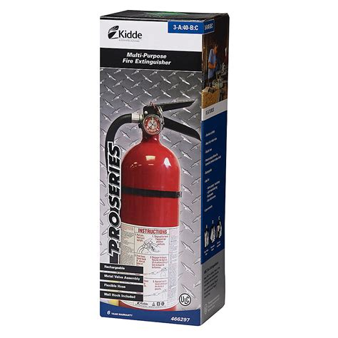 kidde abc pro series rechargeable red fire