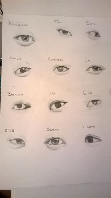 sketch book exo of exo freehand sketches by ihiccup2468 on deviantart