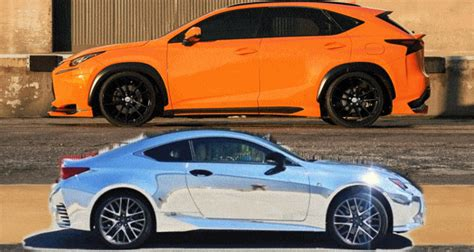 elite motor works 2015 lexus nx200t f sport and rc350 chrome wrap by 360