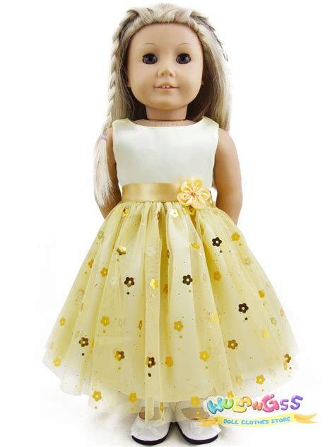 Handmade Doll Clothes - doll clothes fits 18 quot american handmade yellow
