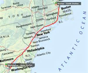 Map From New York To Boston by Usa Holiday Itinerary