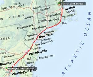 us map boston washington usa itinerary