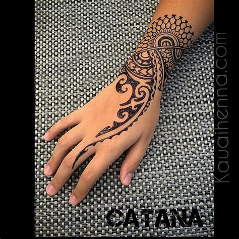 hawaiian henna tattoo designs polynesian inspired jagua bodyart kauai hawaii garde