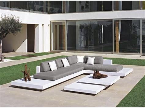 outdoor lounger modern grey white outdoor lounge furniture