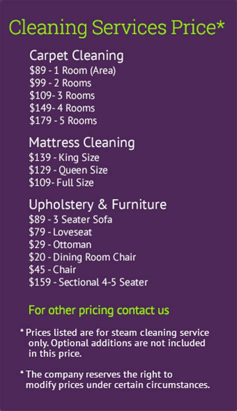 upholstery cleaning prices how much to charge for carpet cleaning services carpet