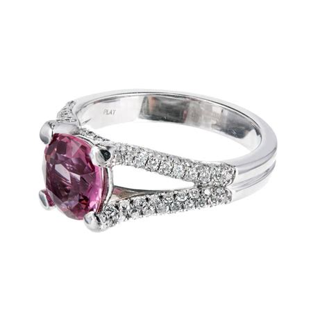 padparadscha sapphire engagement ring peter suchy gia certified padparadscha sapphire diamond
