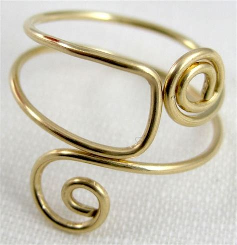 how to make wire jewelry rings easy folded wire ring tutorial jewelry journal