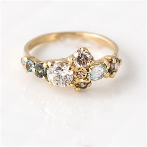best 25 cluster engagement rings ideas on