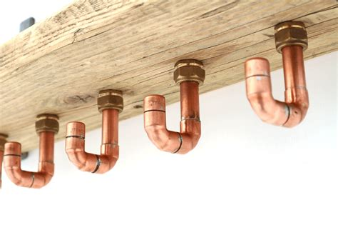 copper pipe reclaimed wood shelving with coat hooks reclaimed wood shelf and copper pipe coat hooks metal