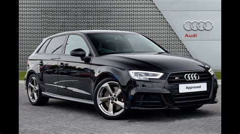 Audi A3 Sportback Schwarz by Audi A3 S3 Sportback Tfsi Quattro Black Edition Youtube